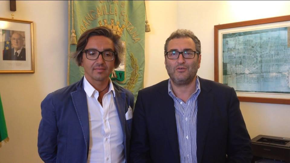 Il consigliere comunale di Forza Italia Antonio Andrisano e il sindaco Maurizio Bruno