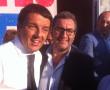 Matteo Renzi con Maurizio Bruno