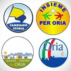 coalizione per il cambiamento, cambiamo storia, insieme per ora, legalità e sviluppo per oria, oria è