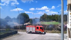 vigili del fuoco incendio quartiere san lorenzo 1