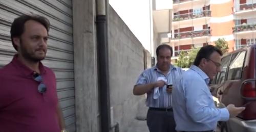 Luigi Galiano, Ciro Argese e Mimmo Bianco al termine della riunione di stamattina