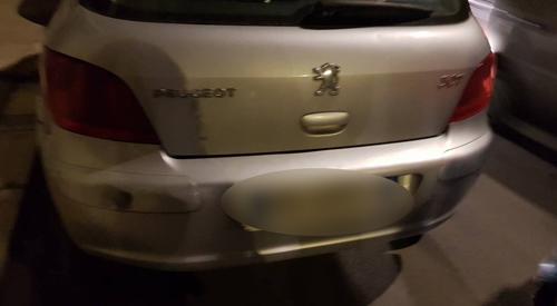 Il danno alla Peugeot