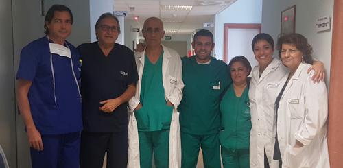 Molto apprezzati: il dottor Francesco Serinelli con la sua equipe