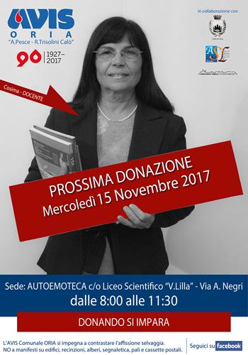 10-AVIS_Comunale_ORIA-Manifesto_Donazione-15nov17