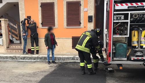 vigili del fuoco incendio casa 4