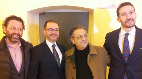 Da sinistra: Vanni Calò, Michele Iaia, Giovanni Taurisano, Luca Mangia